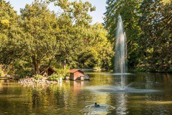 Badenweiler Kurpark Teich.