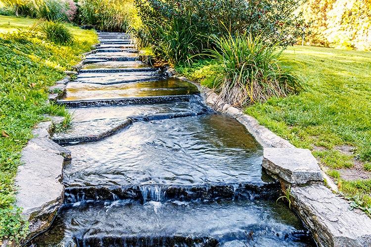 Wasserlauf im Kurpark.
