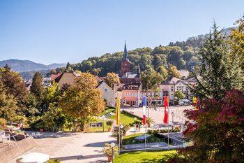 Badenweiler Ansicht vom Schloßplatz