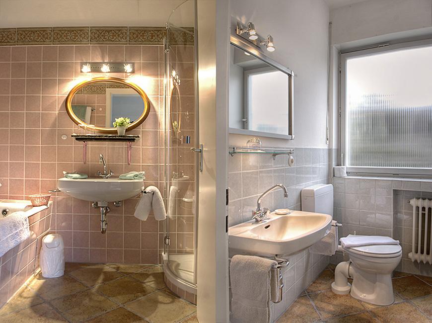 Bad 1 und Gäste-WC im Fraenkel Haus
