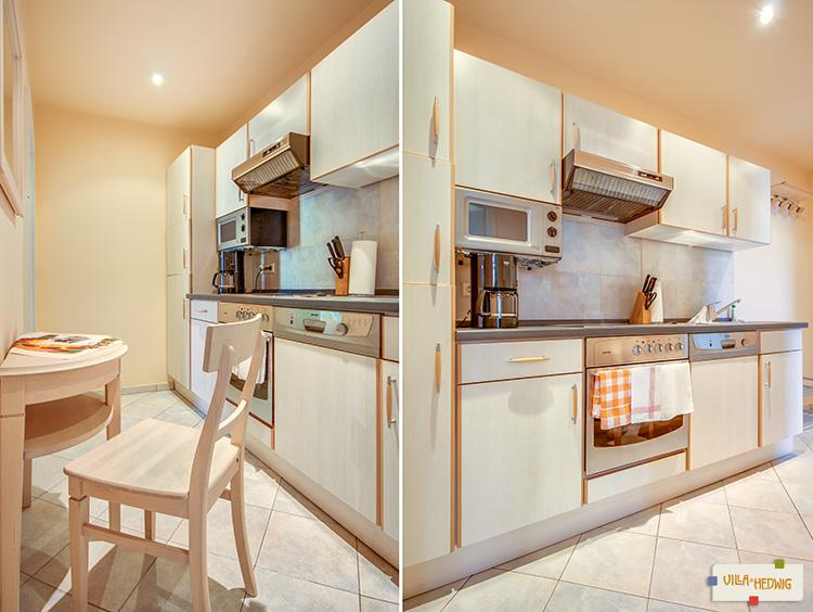Lilien : Küche des Appartements.