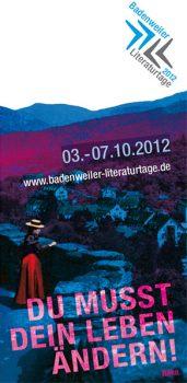 Badenweiler Literaturtage 03 bis 07 Oktober 2012
