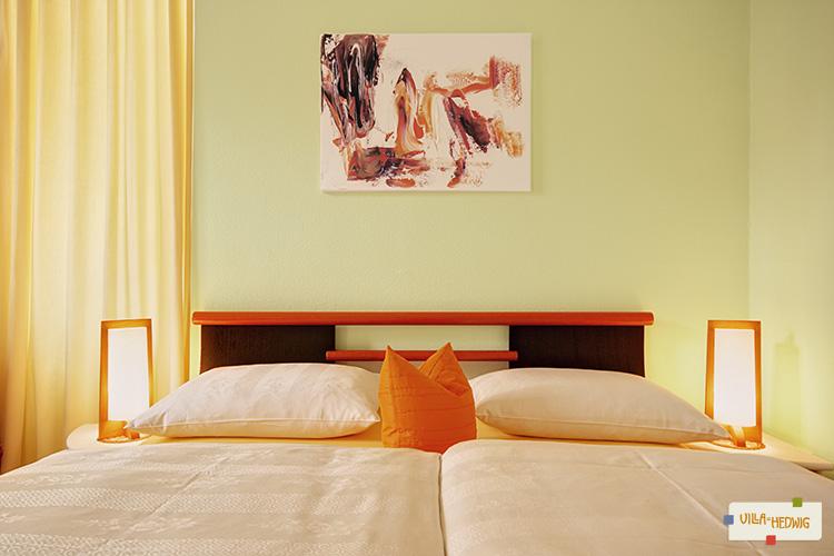 Bett im Appartement Sanssouci
