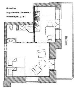 Grundriss Sanssouci