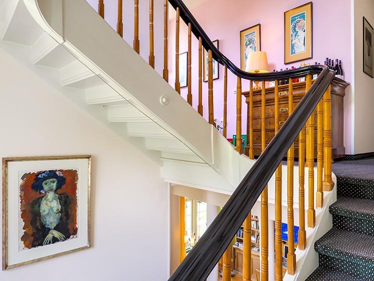 Jugendstil Treppenhaus in der Villa Hedwig